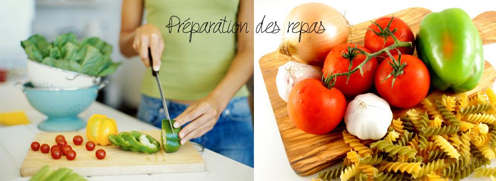Préparation des repas à domicile / livraison